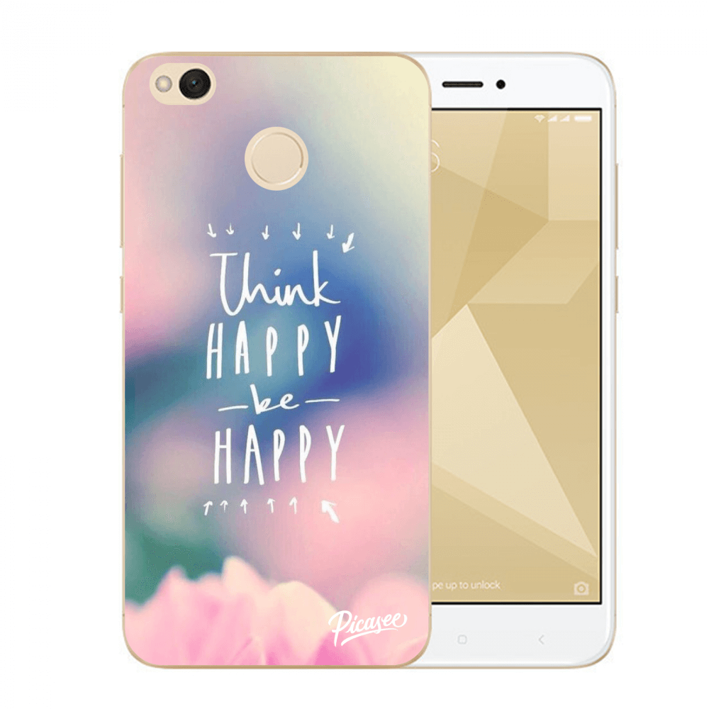 Picasee Xiaomi Redmi 4X Global Hülle - Transparenter Kunststoff - Think happy be happy