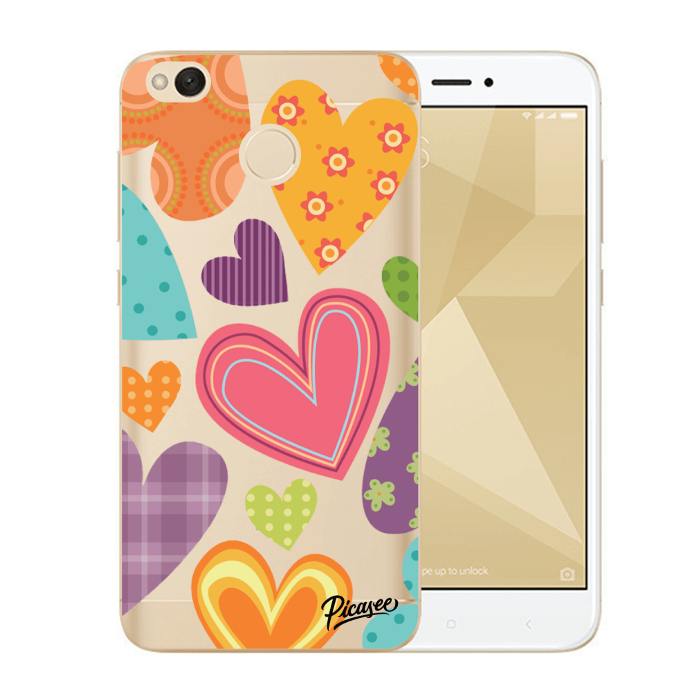Picasee Xiaomi Redmi 4X Global Hülle - Transparenter Kunststoff - Colored heart