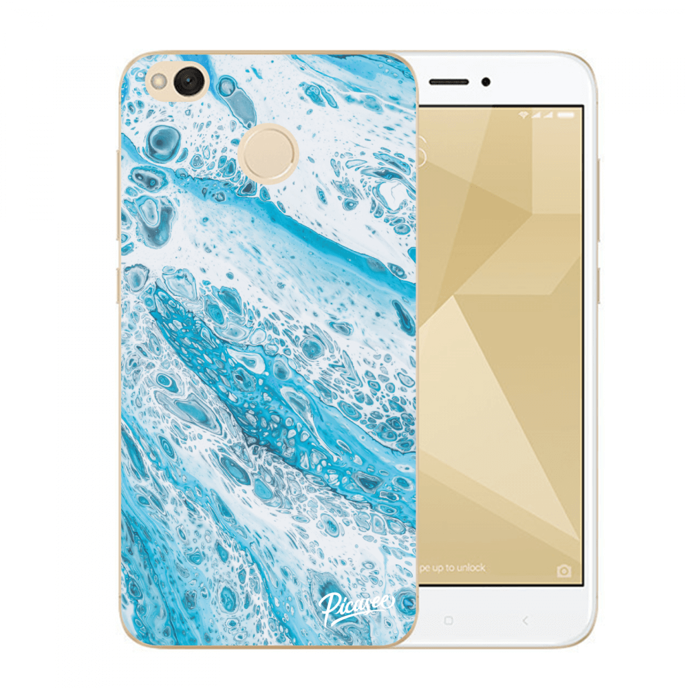 Picasee Xiaomi Redmi 4X Global Hülle - Transparenter Kunststoff - Blue liquid