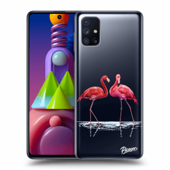 Hülle für Samsung Galaxy M51 M515F - Flamingos couple