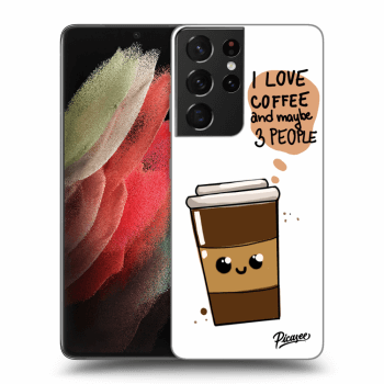 Hülle für Samsung Galaxy S21 Ultra G998B - Cute coffee