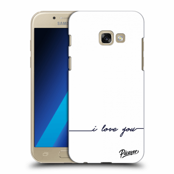 Hülle für Samsung Galaxy A3 2017 A320F - I love you