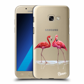Hülle für Samsung Galaxy A3 2017 A320F - Flamingos couple