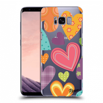 Hülle für Samsung Galaxy S8+ G955F - Colored heart