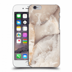 Picasee Apple iPhone 6/6S Hülle - Transparentes Silikon - Cream marble