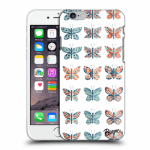 Picasee Apple iPhone 6/6S Hülle - Transparentes Silikon - Butterflies