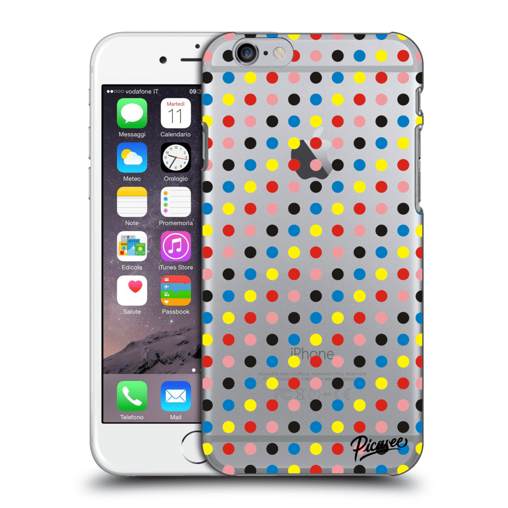 Picasee Apple iPhone 6/6S Hülle - Transparenter Kunststoff - Colorful dots