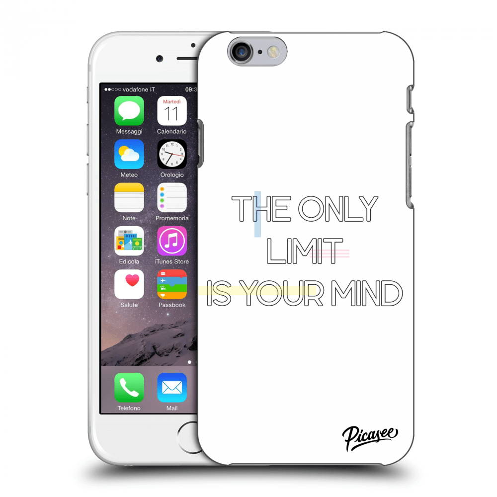 Picasee Apple iPhone 6/6S Hülle - Transparentes Silikon - The only limit is your mind