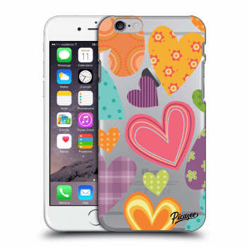 Hülle für Apple iPhone 6/6S - Colored heart