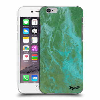 Picasee Apple iPhone 6/6S Hülle - Transparentes Silikon - Green marble
