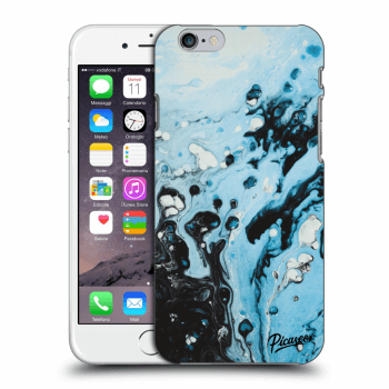 Picasee Apple iPhone 6/6S Hülle - Transparenter Kunststoff - Organic blue