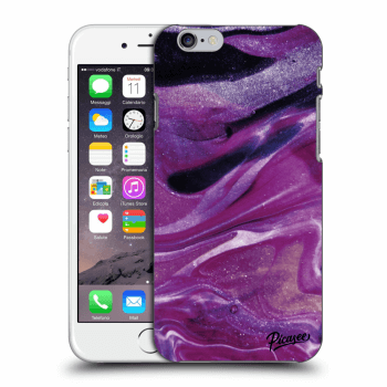 Picasee Apple iPhone 6/6S Hülle - Transparenter Kunststoff - Purple glitter