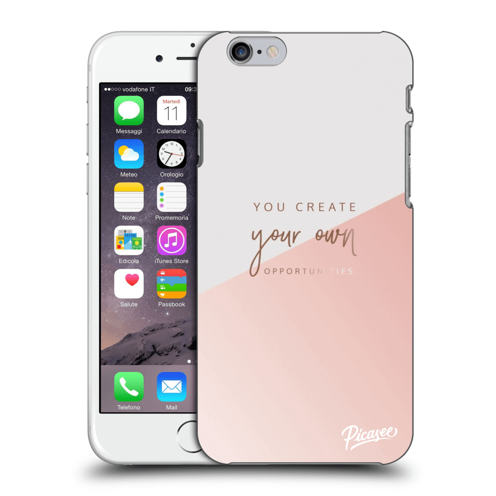 Picasee Apple iPhone 6/6S Hülle - Transparentes Silikon - You create your own opportunities