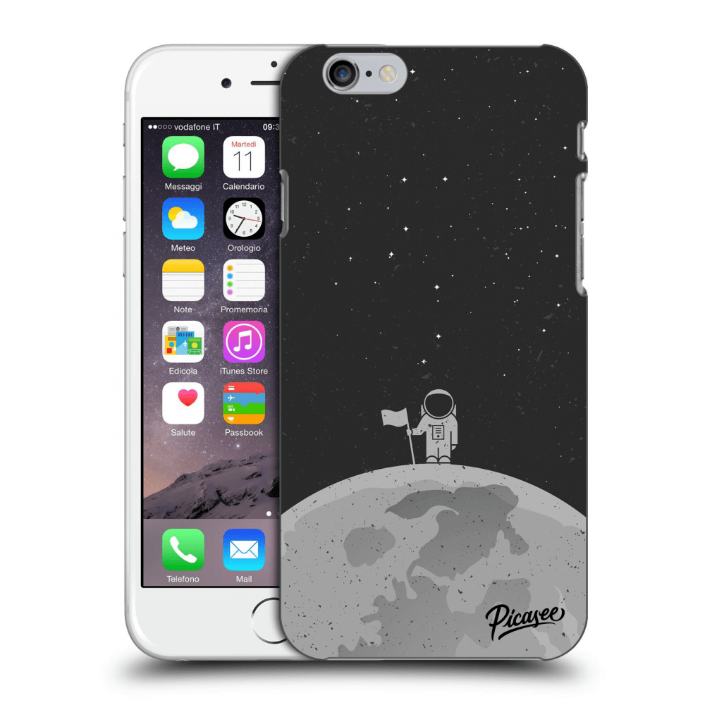 Picasee Apple iPhone 6/6S Hülle - Transparentes Silikon - Astronaut