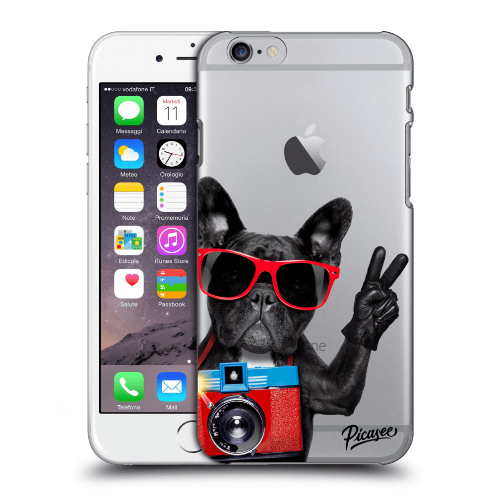 Picasee Apple iPhone 6/6S Hülle - Transparentes Silikon - French Bulldog