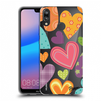 Hülle für Huawei P20 Lite - Colored heart