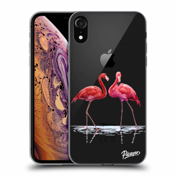 Hülle für Apple iPhone XR - Flamingos couple