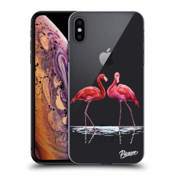 Hülle für Apple iPhone XS Max - Flamingos couple
