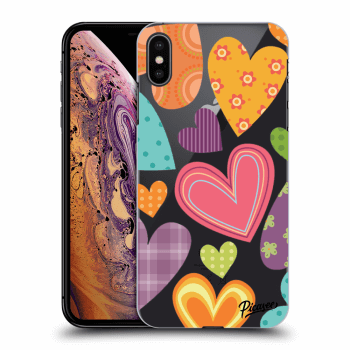 Hülle für Apple iPhone XS Max - Colored heart