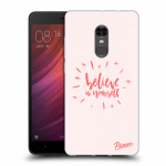 Picasee Xiaomi Redmi Note 4 Global LTE Hülle - Transparentes Silikon - Believe in yourself