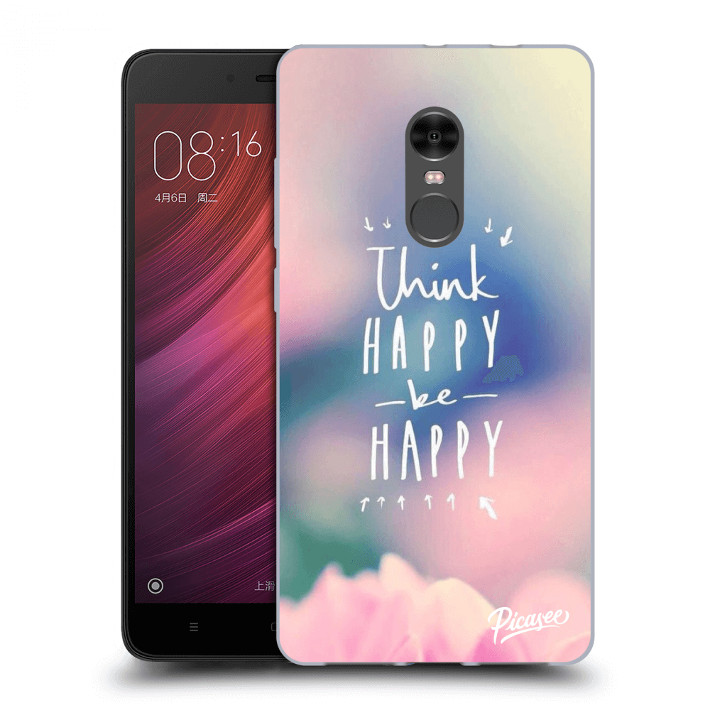 Picasee Xiaomi Redmi Note 4 Global LTE Hülle - Transparenter Kunststoff - Think happy be happy