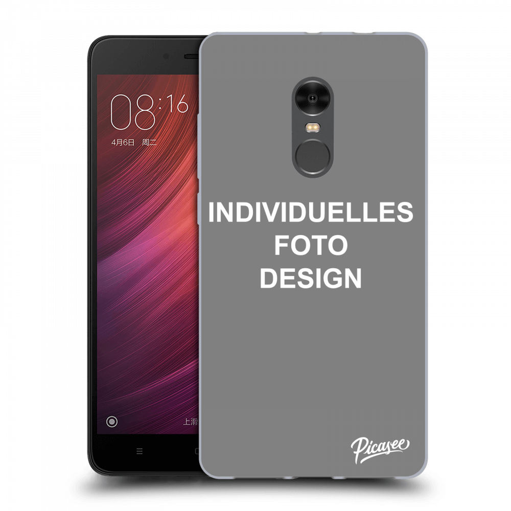 Picasee Xiaomi Redmi Note 4 Global LTE Hülle - Transparenter Kunststoff - Individuelles Fotodesign
