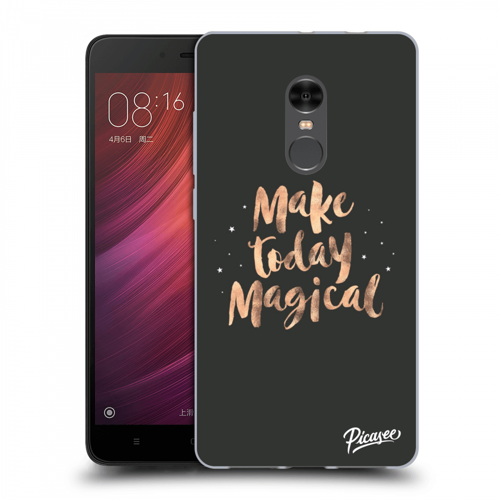 Picasee Xiaomi Redmi Note 4 Global LTE Hülle - Transparentes Silikon - Make today Magical