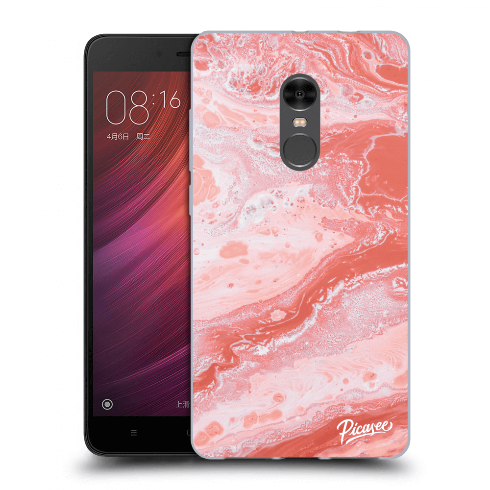 Picasee Xiaomi Redmi Note 4 Global LTE Hülle - Transparentes Silikon - Red liquid