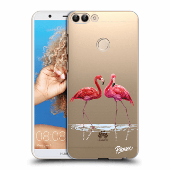 Hülle für Huawei P Smart - Flamingos couple