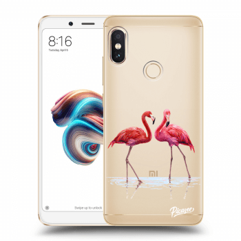 Hülle für Xiaomi Redmi Note 5 Global - Flamingos couple