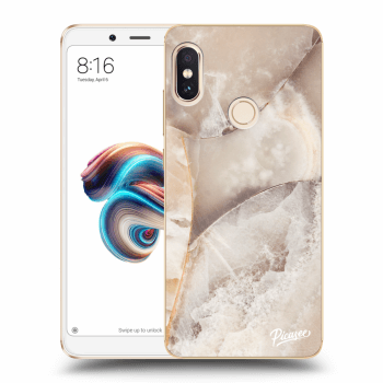 Hülle für Xiaomi Redmi Note 5 Global - Cream marble