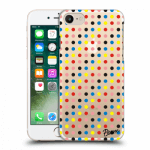 Picasee Apple iPhone 7 Hülle - Transparentes Silikon - Colorful dots