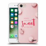 Picasee Apple iPhone 7 Hülle - Transparenter Kunststoff - Life is as sweet as you are