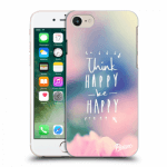 Picasee Apple iPhone 7 Hülle - Transparentes Silikon - Think happy be happy
