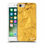 Picasee Apple iPhone 7 Hülle - Transparentes Silikon - Gold