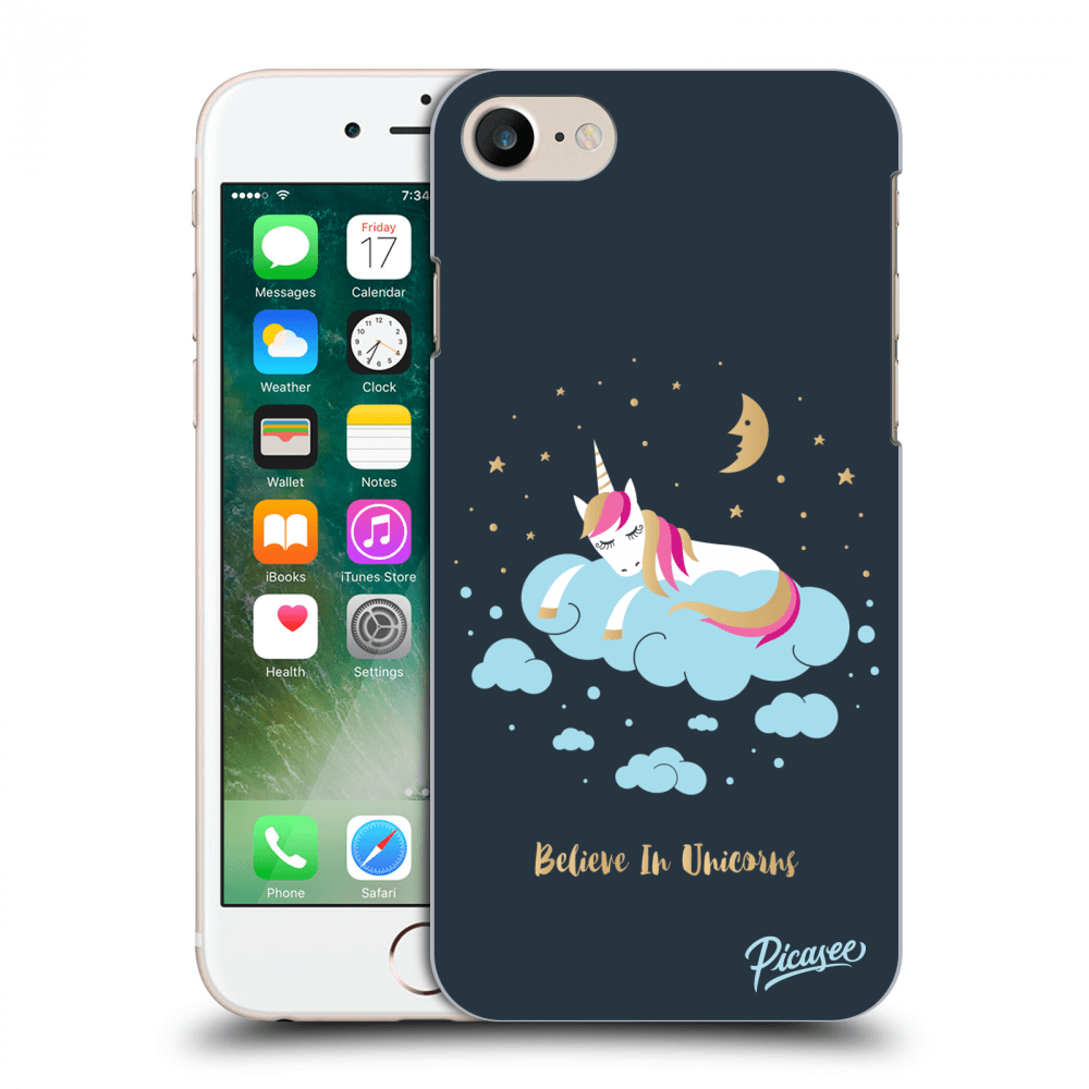 Picasee Apple iPhone 7 Hülle - Transparentes Silikon - Believe In Unicorns