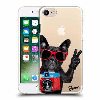 Picasee Apple iPhone 7 Hülle - Transparentes Silikon - French Bulldog