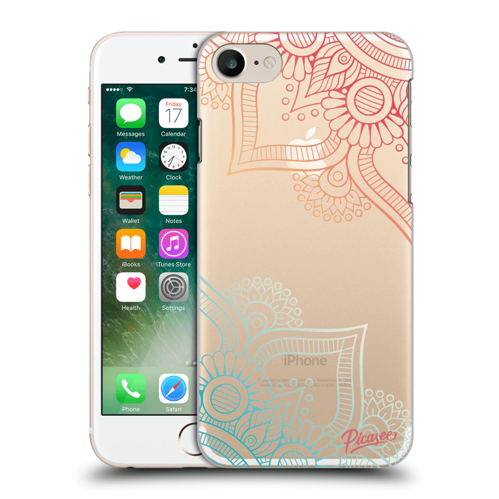 Picasee Apple iPhone 7 Hülle - Transparenter Kunststoff - Flowers pattern