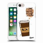 Picasee Apple iPhone 8 Hülle - Transparentes Silikon - Cute coffee