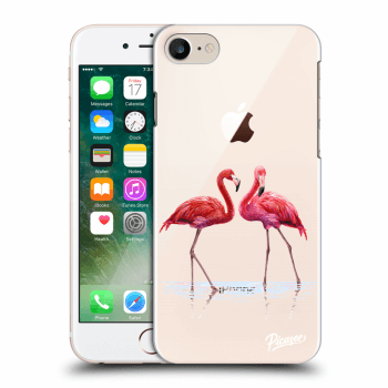 Hülle für Apple iPhone 8 - Flamingos couple