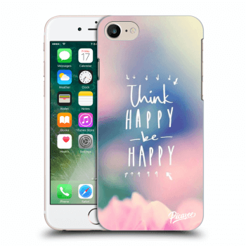 Picasee Apple iPhone 8 Hülle - Transparentes Silikon - Think happy be happy