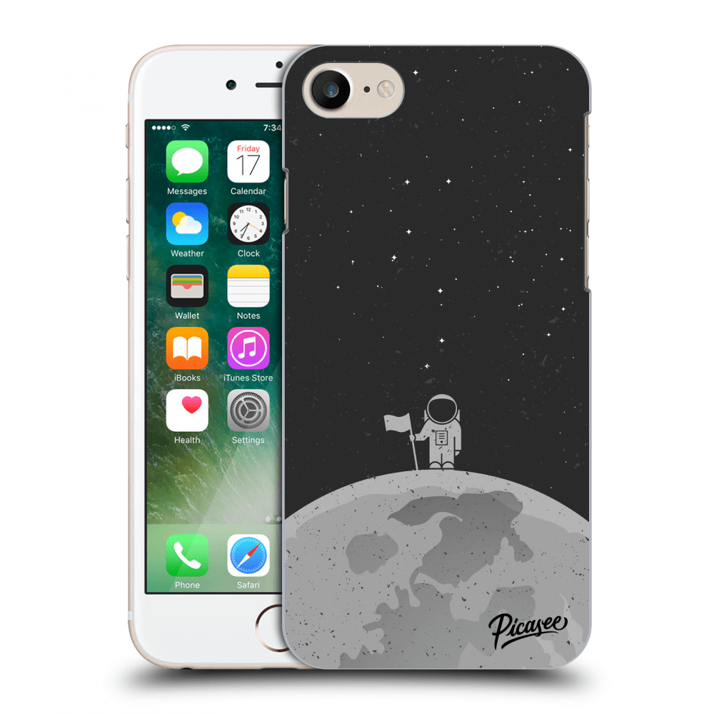 Picasee Apple iPhone 8 Hülle - Transparentes Silikon - Astronaut