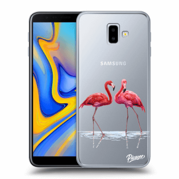 Hülle für Samsung Galaxy J6+ J610F - Flamingos couple
