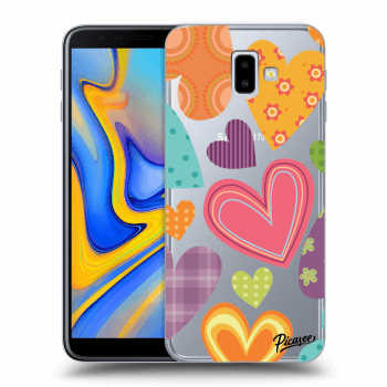Hülle für Samsung Galaxy J6+ J610F - Colored heart