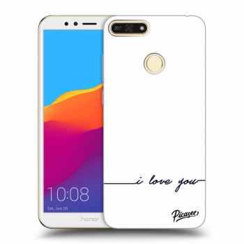 Hülle für Honor 7A - I love you