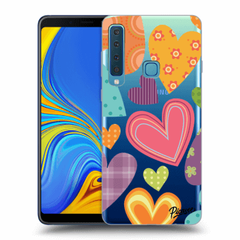 Hülle für Samsung Galaxy A9 2018 A920F - Colored heart