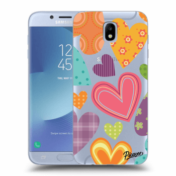 Hülle für Samsung Galaxy J7 2017 J730F - Colored heart