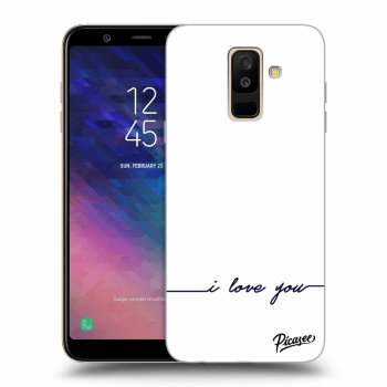 Hülle für Samsung Galaxy A6+ A605F - I love you