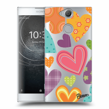 Hülle für Sony Xperia XA2 - Colored heart