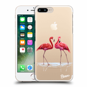 Hülle für Apple iPhone 7 Plus - Flamingos couple